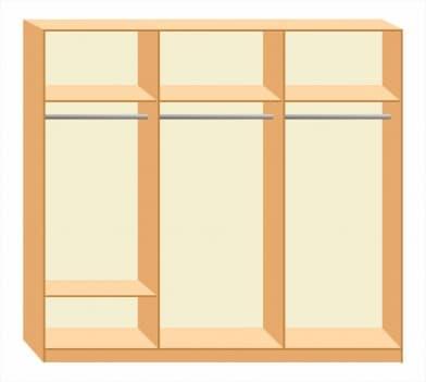 Шкаф-купе Премьер 1-5 двухстворчатый с зеркалами и рисунком